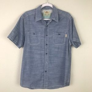 Woolrich men's chambray short sleeve button up Med